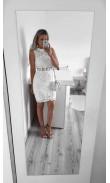 Robe blanche à crochet