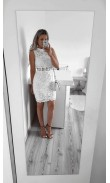 White dress with hook