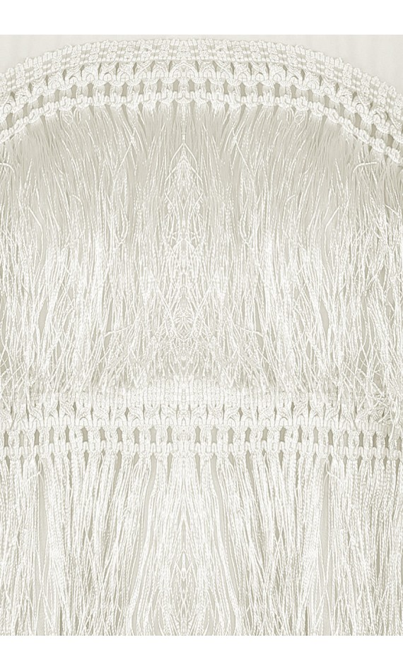 Top white with tulle with fringes