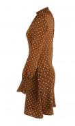 Robe camel à pois
