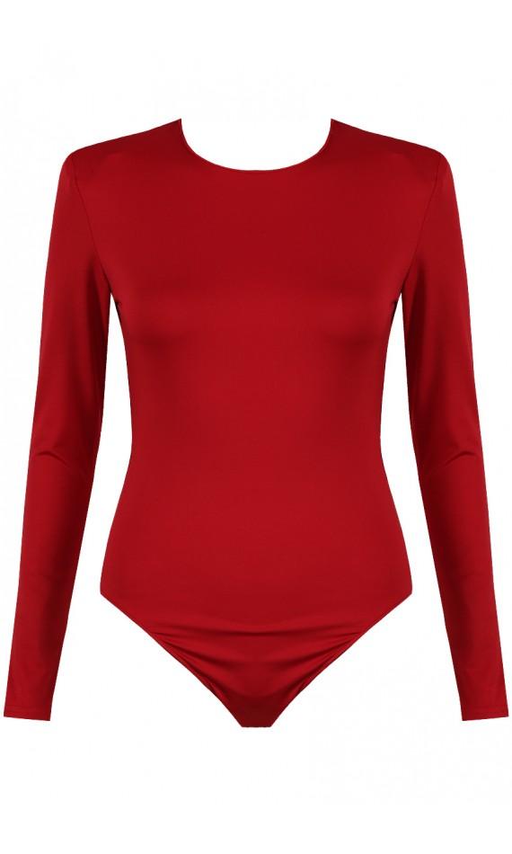 Red bodysuit long sleeves