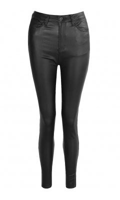 Black polished jeans
