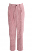 Pantalon en velours rose