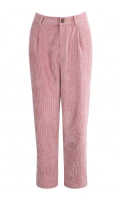 Pink velvet pants