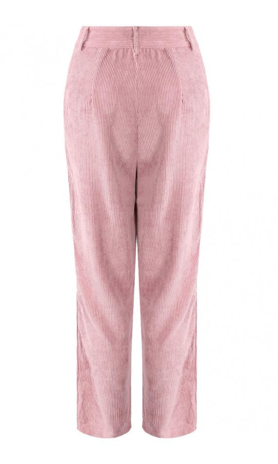 Pantalon en velours rose