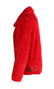 Red jacket fake fur