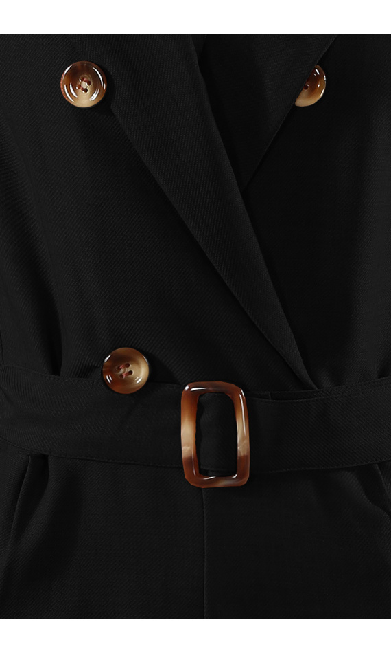 Black combination with buttons and belt