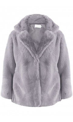 Jacket in grey fake fur