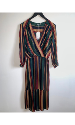 Striped heart cover dress