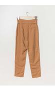 Camel cigarette pants with belt