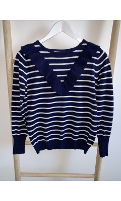 Striped blue sweater