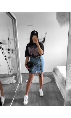 Jupe en jean courte bleu clair
