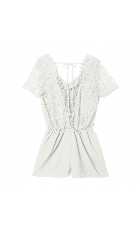 Playsuit with lace