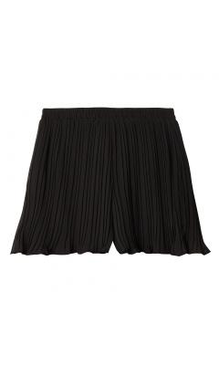 Short plissé noir