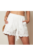 White shorts with english embroidery