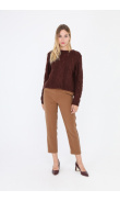 Brown twisted knit sweater