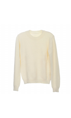Round neck cream sweater