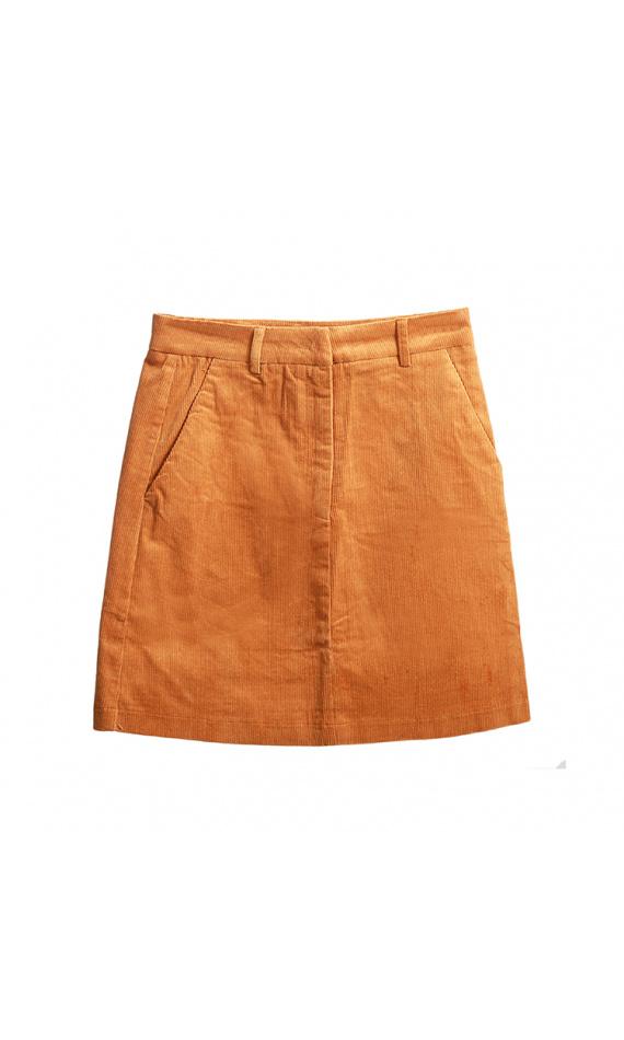 Velvet straight skirt