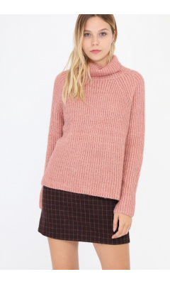 Pink turtleneck sweater