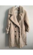 Manteau long en peluche
