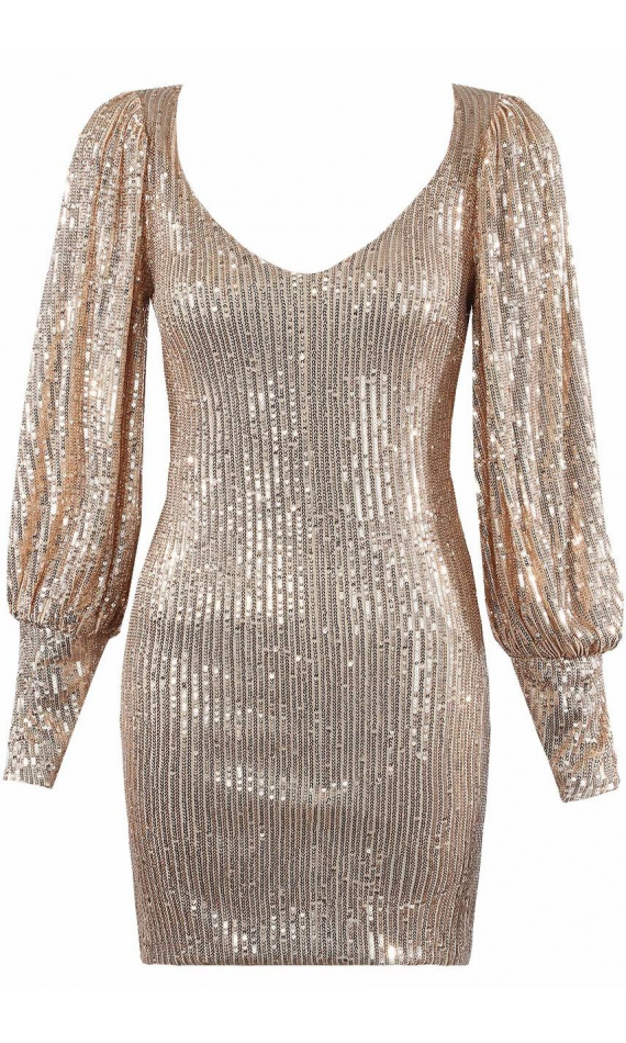 Sequined midi dress