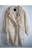 Teddy coat bear off white