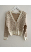 Beige knit cardigan