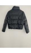 Doudoune noire en simili cuir
