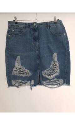 Skirt blue in destroy jeans