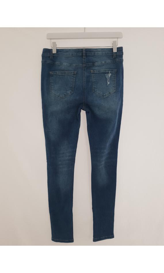 Pierced blue Jean