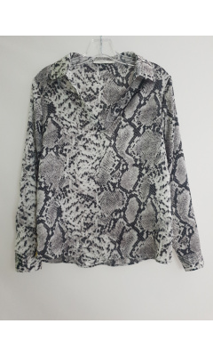 Gray blouse with snake print