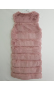 Pink vest fake fur