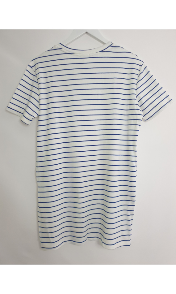 White striped t-shirt dress