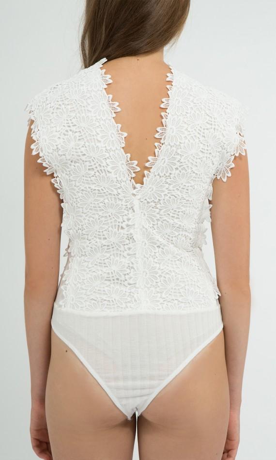 Body blanc en crochet